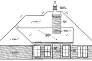 European Style House Plan - 4 Beds 2.5 Baths 2360 Sq/Ft Plan #310-365 Exterior - Rear Elevation