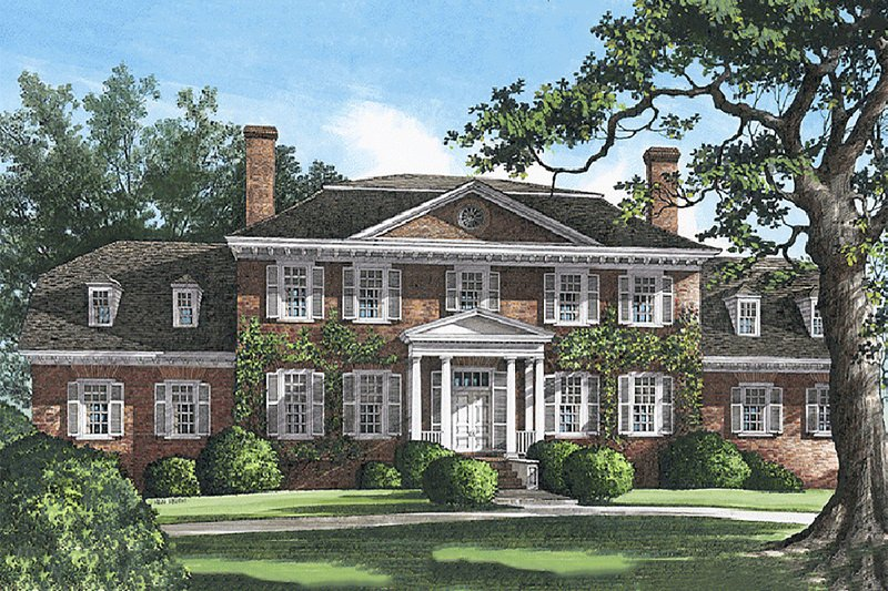 Classical Exterior - Front Elevation Plan #137-158