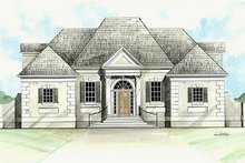 European Exterior - Front Elevation Plan #119-288