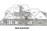 Tudor Style House Plan - 4 Beds 4.5 Baths 3839 Sq/Ft Plan #310-656 Exterior - Rear Elevation
