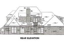 Tudor Exterior - Rear Elevation Plan #310-656