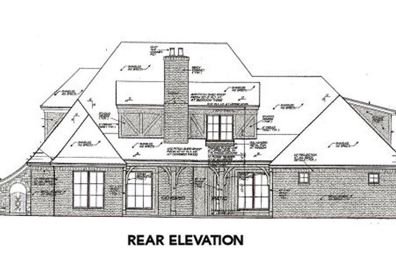 Tudor Exterior - Rear Elevation Plan #310-656 - Houseplans.com