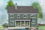 Country Style House Plan - 5 Beds 4.5 Baths 2932 Sq/Ft Plan #929-1034 Exterior - Rear Elevation