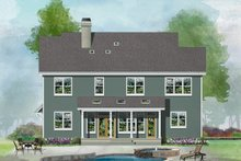 Country Exterior - Rear Elevation Plan #929-1034