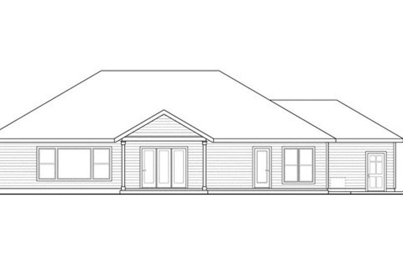 Craftsman Exterior - Rear Elevation Plan #124-842 - Houseplans.com