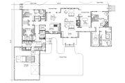 Craftsman Style House Plan - 4 Beds 5 Baths 4220 Sq/Ft Plan #451-20 Floor Plan - Main Floor Plan