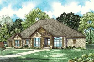 Dream House Plan - Craftsman Exterior - Front Elevation Plan #17-2609