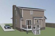 Farmhouse Style House Plan - 3 Beds 2.5 Baths 1289 Sq/Ft Plan #79-154 Exterior - Rear Elevation