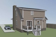 Farmhouse Exterior - Rear Elevation Plan #79-154