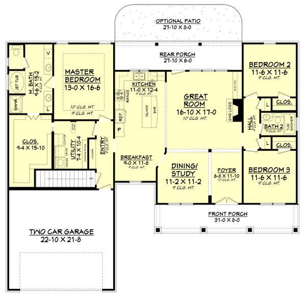 Country Floor Plan - Other Floor Plan #430-83