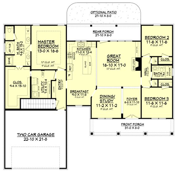 Country Floor Plan - Other Floor Plan Plan #430-83