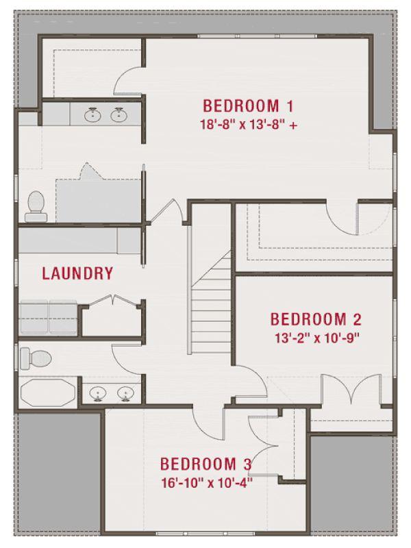 Craftsman Floor Plan - Upper Floor Plan #461-73