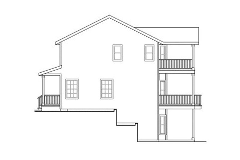 Colonial Exterior - Other Elevation Plan #124-838 - Houseplans.com