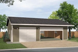 Ranch Exterior - Front Elevation Plan #22-547