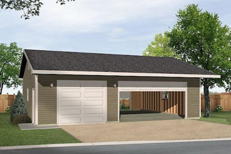 Dream House Plan - Ranch Exterior - Front Elevation Plan #22-547