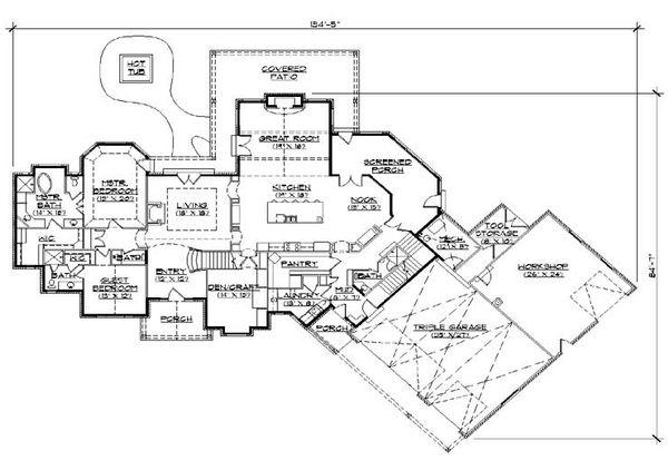 Colonial Floor Plan - Main Floor Plan Plan #5-446