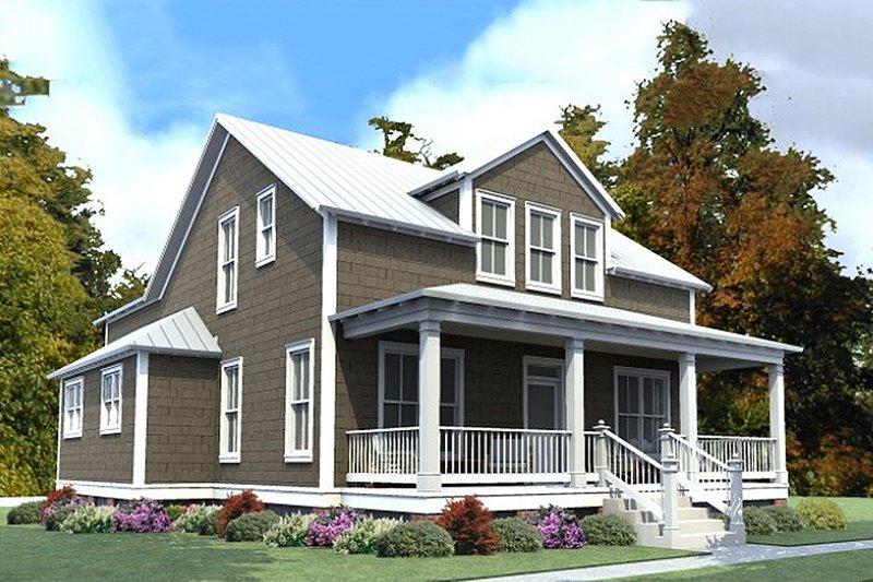 Dream House Plan - Farmhouse Exterior - Front Elevation Plan #63-375