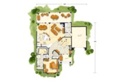 Cabin Style House Plan - 5 Beds 3.1 Baths 3060 Sq/Ft Plan #942-40 Floor Plan - Main Floor Plan