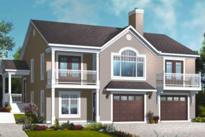 Country Exterior - Front Elevation Plan #23-2269