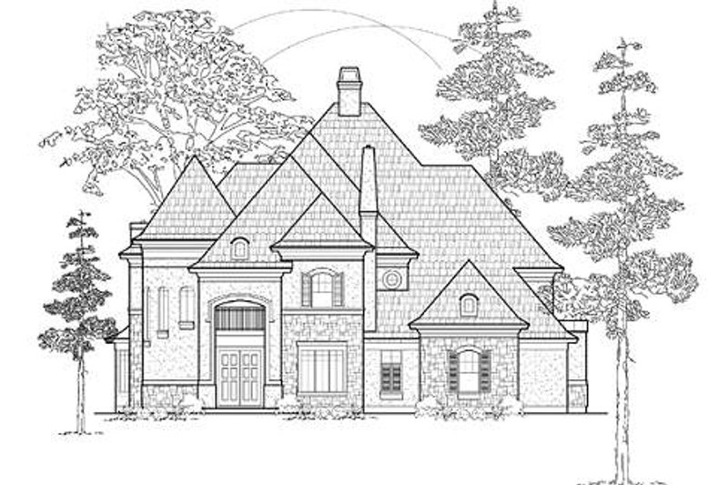 European Exterior - Front Elevation Plan #61-143 - Houseplans.com