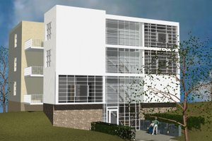 Modern Exterior - Front Elevation Plan #535-16