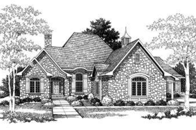 Dream House Plan - European Exterior - Front Elevation Plan #70-777