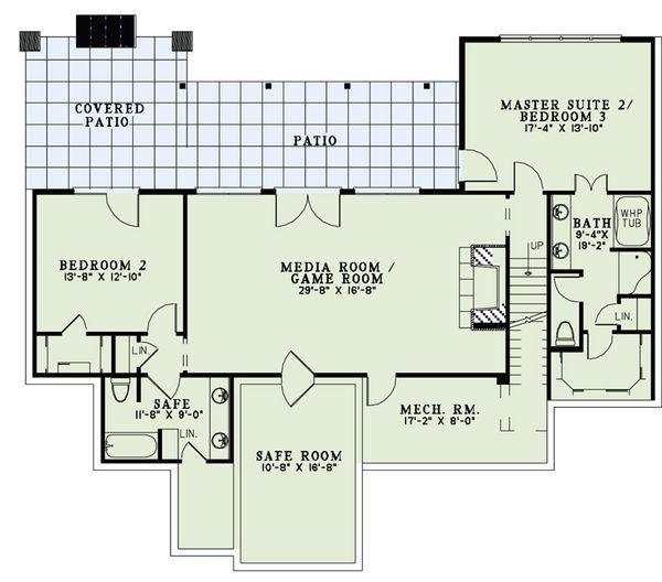 Craftsman Floor Plan - Upper Floor Plan Plan #17-2504