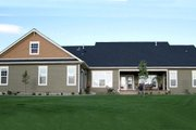 Craftsman Style House Plan - 4 Beds 3.5 Baths 2800 Sq/Ft Plan #21-349 Exterior - Rear Elevation