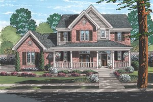 Dream House Plan - Traditional Exterior - Front Elevation Plan #46-496