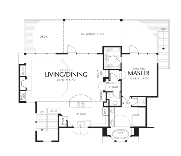 Craftsman Floor Plan - Upper Floor Plan Plan #48-576