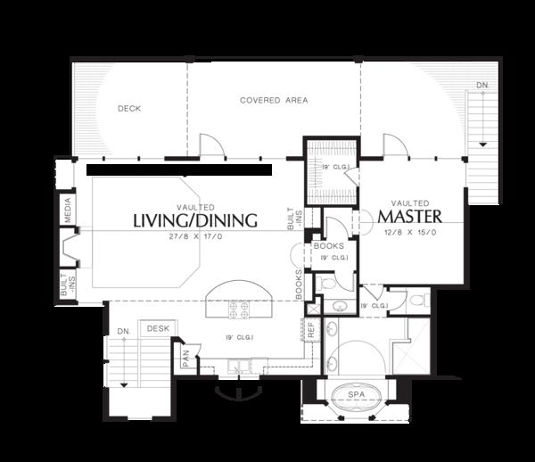 Craftsman Floor Plan - Upper Floor Plan Plan #48-576