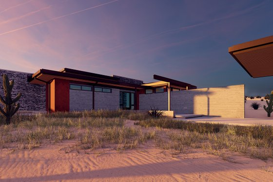 Modern Exterior - Front Elevation Plan #498-7