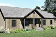 Ranch Style House Plan - 3 Beds 2 Baths 1311 Sq/Ft Plan #44-239 Exterior - Other Elevation