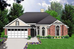 Home Plan - European Exterior - Front Elevation Plan #40-187