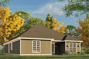 Traditional Style House Plan - 3 Beds 2 Baths 1516 Sq/Ft Plan #17-3425 Exterior - Rear Elevation
