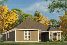House Plan Design - Traditional Exterior - Rear Elevation Plan #17-3425