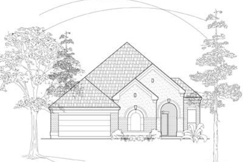 European Exterior - Front Elevation Plan #61-102 - Houseplans.com