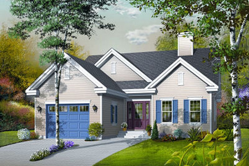 Traditional Exterior - Front Elevation Plan #23-783