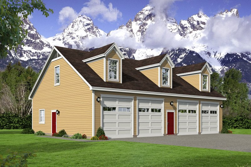 Architectural House Design - Country Exterior - Front Elevation Plan #932-221