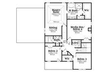 Farmhouse Floor Plan - Upper Floor Plan Plan #419-258