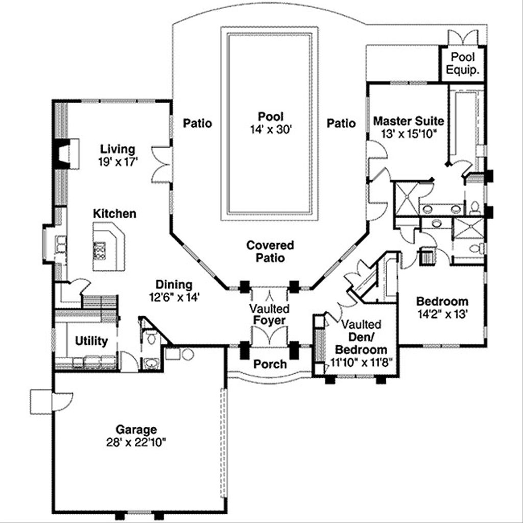 Ranch style house plan 3 beds 2 5 baths 2261 sq ft plan for 501 plan
