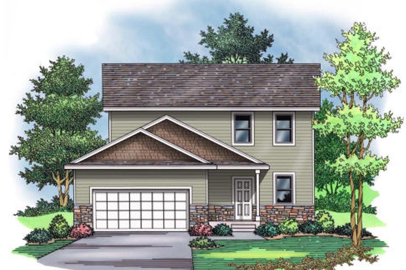 Traditional Exterior - Front Elevation Plan #51-374