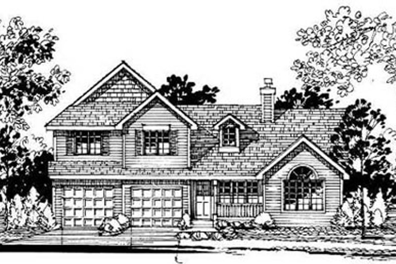 Traditional Style House Plan - 5 Beds 2.5 Baths 2209 Sq/Ft Plan #50-215 Exterior - Front Elevation