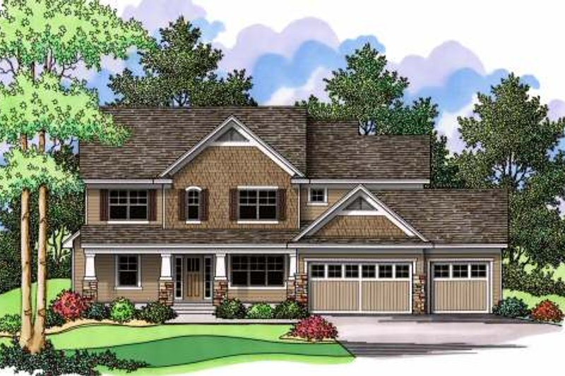 Craftsman Exterior - Front Elevation Plan #51-363