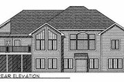 European Style House Plan - 2 Beds 2.5 Baths 2397 Sq/Ft Plan #70-504 Exterior - Rear Elevation