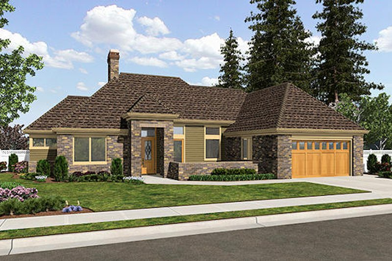 Traditional Exterior - Front Elevation Plan #48-506