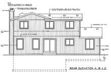 Traditional Exterior - Rear Elevation Plan #92-214