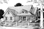 Traditional Style House Plan - 3 Beds 2 Baths 1842 Sq/Ft Plan #20-161 Exterior - Front Elevation