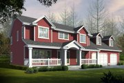Farmhouse Style House Plan - 4 Beds 2.5 Baths 2221 Sq/Ft Plan #112-165 Exterior - Front Elevation