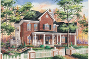Traditional Style House Plan - 3 Beds 2 Baths 2373 Sq/Ft Plan #25-4780 Exterior - Front Elevation